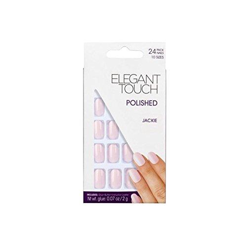 エレガントなタッチポリッシュネイルの-(ベビーピンク x4 - Elegant Touch Polished Nails -Jackie (Baby Pink (Pack of 4) [並行輸入品] B0727R5JY5