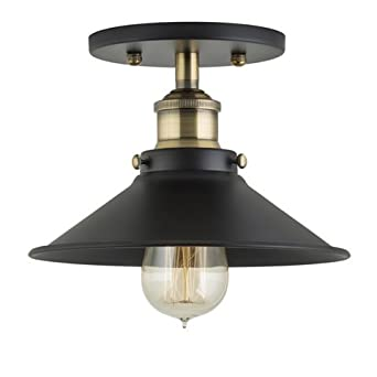Amazon fixture only antique brass linea di liara fixture only antique brass linea di liara andante industrial factory semi flushmount mozeypictures Choice Image
