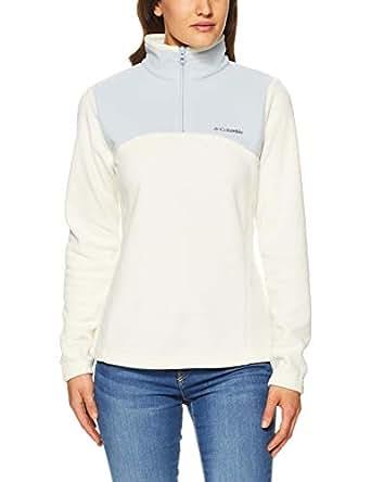 Columbia Women's Western Ridge Half Zip Jackets, Light Bisque/Circus Grey, L