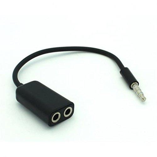 LG Rebel LTE Compatible 3.5mm Headset Headphone Splitter Ear