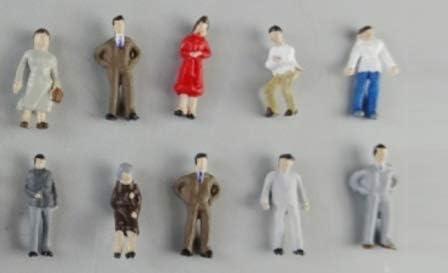 国産 Nゲージ 模型人形 手塗り仕上げ 落ち着いた色調フィギュア 20体