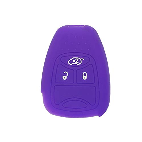 SEGADEN Silicone Cover Protector Case Skin Jacket fit for CHRYSLER DODGE JEEP Remote Key Fob CV4751 Deep Purple