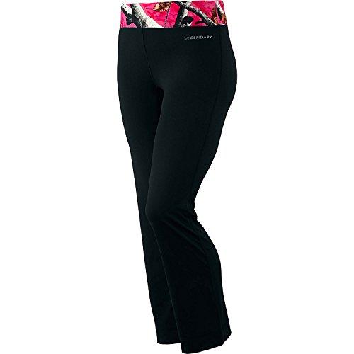 Legendary Whitetails Womens Camo Flex Active Pants (Black, Medium)