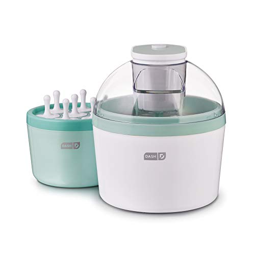 Popsicle Ice Cream - DASH DIC700AQ Everyday Popsicle Ice Cream Maker, 1 quart, Aqua