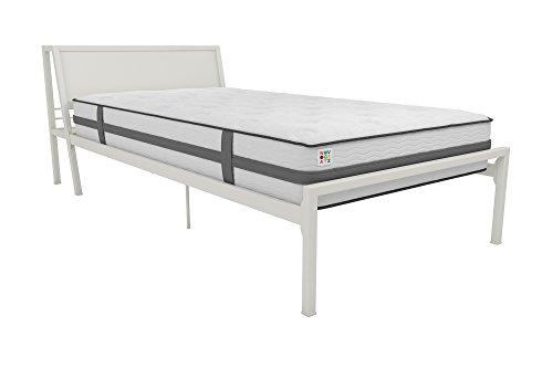Novogratz The Hideaway Storage Bed, Grey Metal - Twin (White) by Novogratz