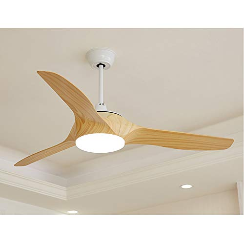 KIKBLW LED Ceiling Fan Light, 52 in 220V Electric Fan Light Send 13 cm and 25Cm Two-Section Boom Bedroom Lamp Living Room Lamp Ceiling Fan Light,Woodgrain