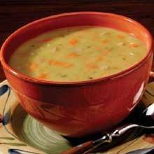 Campbells Frozen Condensed Split Pea Soup with Ham - 4 lb. tray, 3 per case