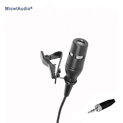 HATCHMATIC Headset and Earset Microphone Black Lavalier Condenser Hypercardioid Stage Conference Computer Microphone for Sennheiser ()