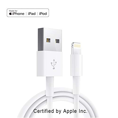 Original Cell Phone - Apple iPhone/iPad Charging/Charger Cord Lightning to USB Cable[Apple MFi Certified] Compatible iPhone X/8/7/6s/6/plus/5s/5c/SE,iPad Pro/Air/Mini,iPod Touch(White 1M/3.3FT) Original Certified