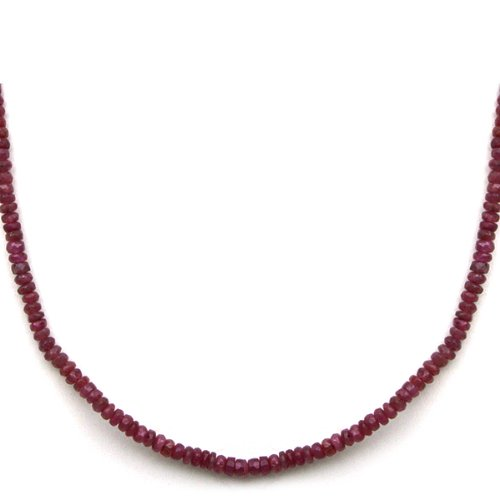 5000-Ct-18-Genuine-Ruby-Beads-Necklace-with-Silver-Magnetic-Clasp