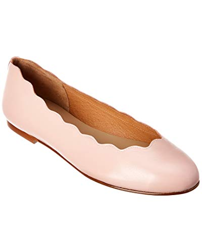 Sole Leather French Flats - French Sole Razor Leather Flat, 6.5, Pink