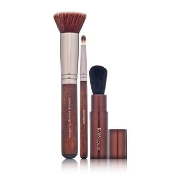 Raw Natural Beauty Raw Color Perfect Trio Mineral Brush Set 3 piece