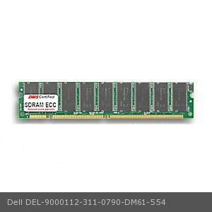 256mb Pc100 Ecc Dimm Memory - DMS Compatible/Replacement for Dell 311-0790 Dimension XPS T850 256MB DMS Certified Memory PC100 32X72-8 ECC 168 Pin SDRAM DIMM 18 Chip (16X8) - DMS