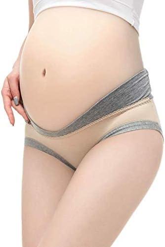 Owbb Umstandsunterw/äsche Niedrige Taille V-f/örmige Baumwolle Schwangere Frauen Nahtlose H/öschen-4 St/ücke M-4XL