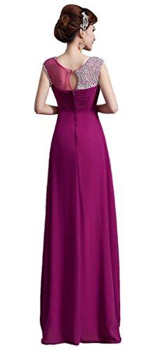 Empire Rot Burgunderrot Drasawee Kleid Damen x7Uw0X