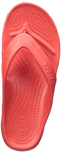 Crocs Kids' Classic Flop Flip, Flame, 7 M US Toddler