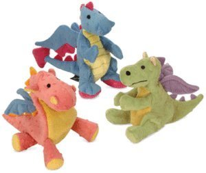 GoDog Dragons with Chew Guard Technology Plush Squeaker Dog