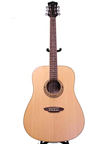 Luna Muse Series Satin Dreadnought Acoustic Guitar - Natural