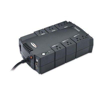 UPS Backup System w/ AVR,8 Outlets,550VA,330W,6 #39; (330w Outlet)