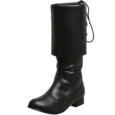 Sparrow Black Pirate Mens Costume Boots Size Large 12-13