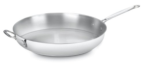 Cuisinart 722-36H Chef's Classic Stainless 14-Inch Open Skillet with Helper -