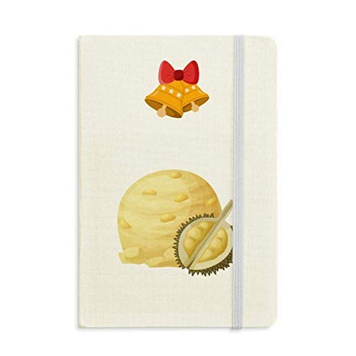 - Yellow Durian Ice Cream Ball Popsicles Notebook Journal Christmas Jingling Bell