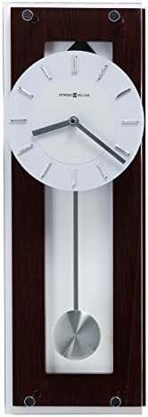 Howard Miller Emmett Contemporary Wall Clock 625-514 Modern Round with Pendulum Quartz Movement