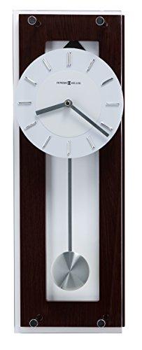 Howard Miller Emmett Contemporary Wall Clock 625-514 Modern Round with Pendulum Quartz Movement