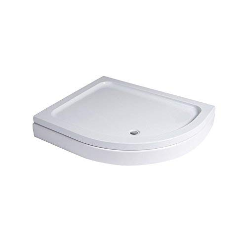 Shower Tray Quadrant Easy Plumb 800 x 800 - Strong Stone Resin with an Acrylic Capping - Impact Resistant Load Bearing Base White Design with Plinth and Adjustable Legs - (Quadrant Shower Trays)