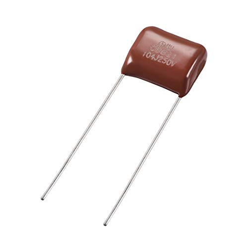 uxcell CBB21 Metallized Polypropylene Film Capacitors 250V 0.1uF for Electric Circuits Energy Saving Lamps Pack of ()