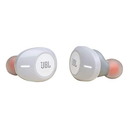 JBL Tune T120 TWS In-Ear Bluetooth-Kopfhörer in Weiß – Kabellose Ohrhörer mit integriertem Mikrofon – Musik Streaming bis zu 4 Stunden mit nur einer Akku-Ladung – Inkl. Ladecase