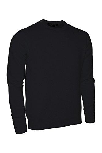 Glenmuir Mens HS704 Made in Scotland 100% Cashmere Crew Neck Golf Sweater (Medium, Black) ()