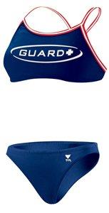 TYR Guard Dimaxback Workout Bikini, Navy, - Swimsuit For Triathlon