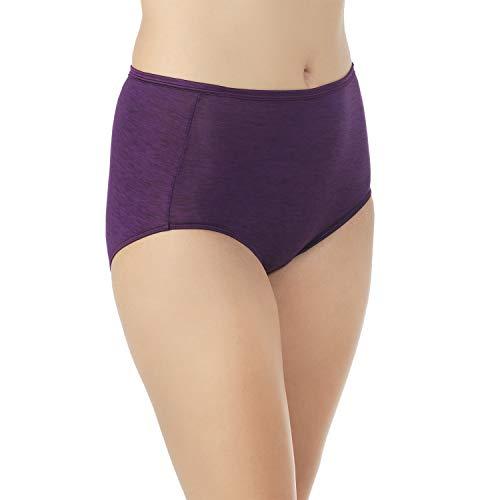 Vanity Fair Women's Underwear Illumination Brief Panty 13109, Sangria, X-Large/8