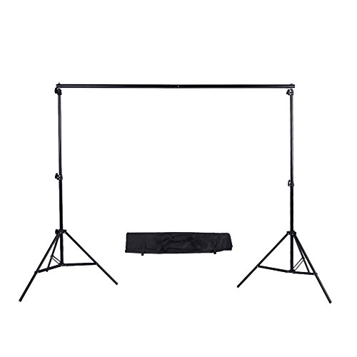 Phot-R 2x3m Portable Background Support System - Adjustable Photo Studio 2x 2m Light Stands and 3m Crossbar Lighting Photography Set Kit + Carry Case for Paper Muslin Cotton Vinyl Non-Woven Backdrops by Phot-R?