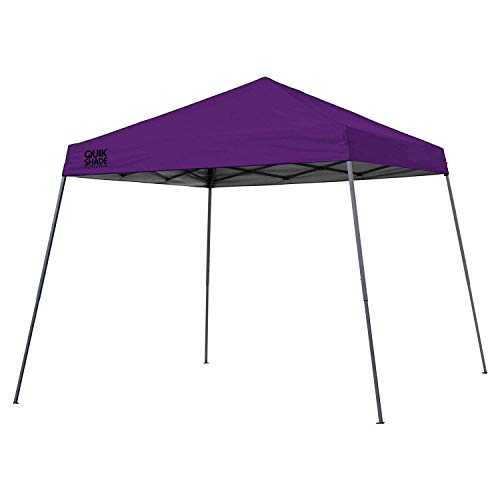 Quik Shade Expedition 10 x 10-Foot Instant Canopy, Slant Leg Outdoor Tent, 64 Square Feet of Shade for 8-12 People - Purple 9' Purple Canopy Tent