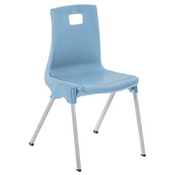 Size 4 Blue Metalliform ST4-Blue Standard Classroom Chair with 380 mm Seat