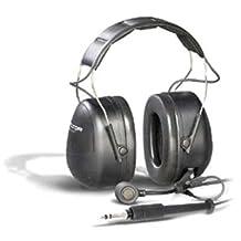 Peltor Hearing Protection - Cup-Mounted Ptt Series Push-Back Headset - High Viz