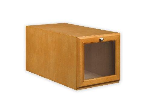 Maple Stackable Storage Organizer - ShoeTrap Hightop/Heel Shoe Storage Box, Maple
