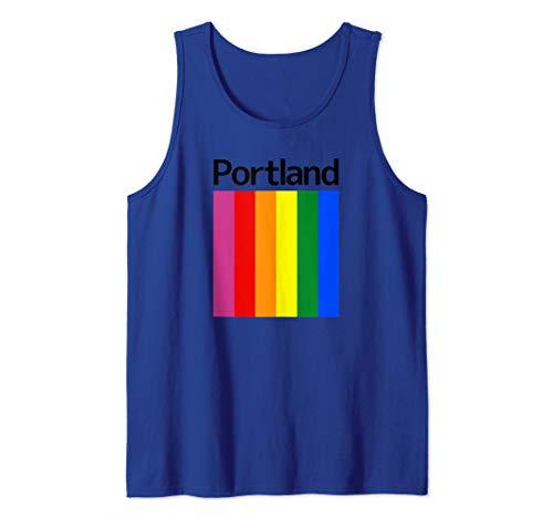Portland Rainbow Square Design - Portland Oregon Tank Top