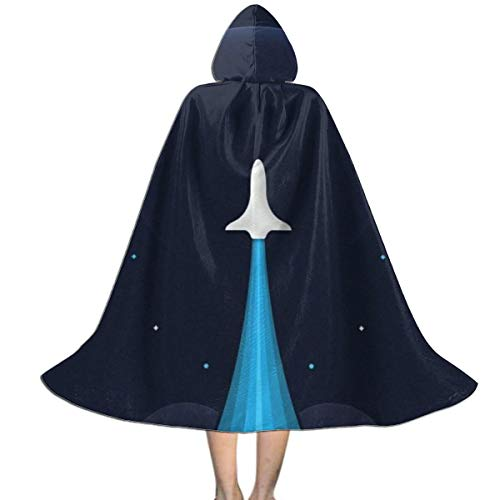 GinCrisis Rocket Up to Galaxy Jet Kids Cape Cloak with Hood Unisex Cloak Cape for Halloween Christmas Party Cosplay Costumes ()