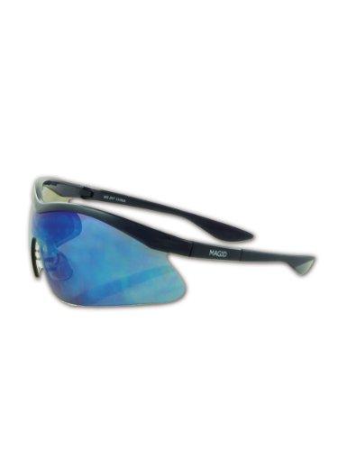 Precision Safety PY70BLBM Power Spec Eyewear, Blue Frame, Blue Mirrored - Frame Power Specs