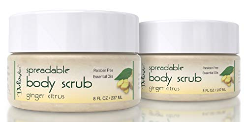 - Dead Sea Salt Exfoliating Face & Body Moisturizing Scrub, Ginger and Citrus Essential Oils, Vitamin E for Dry Skin - Leaves Skin Silky Smooth with Lasting Hydration for Men & Women (Two Pack)