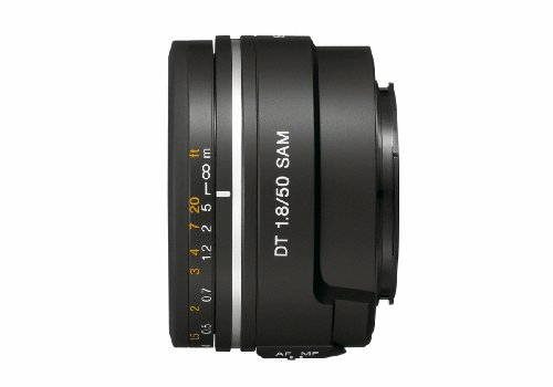 Sony 50mm f/1.8 SAM DT Lens for Sony Alpha Digital SLR Cameras – Fixed