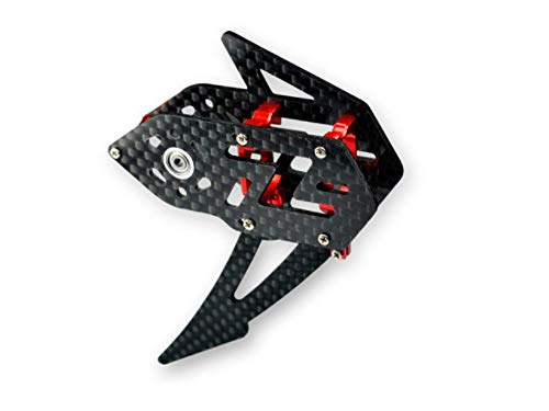 Microheli Carbon Fiber Tail Gear Case (RED) - WLTOYS V950