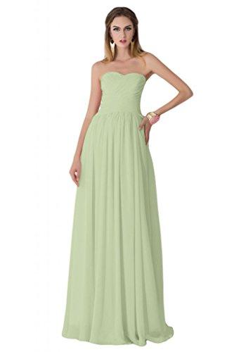 sunvary sin tirantes de volantes larga noche vestidos de brillantes verde manzana