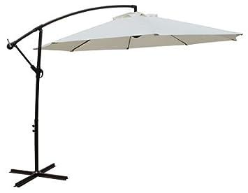 Bond Manufacturing 60019 11.5 ft. Aluminum Offset Umbrella, Beige