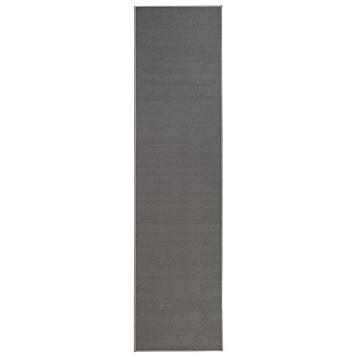 Sweet Home Stores Clifton Collection Solid Design Rubberback Runner Rug, Gray by Sweet Home Stores