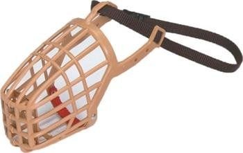 Classic Products Plastic Double Grill Basket Muzzle with Nylon Collar, Size 7 ()