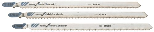 Bosch T718BF3 7-Inch 14TPI Sandwich Material Jig Saw Blade - 3 Pack, Model: T718BF3 (Tools & Outdoor gear supplies)